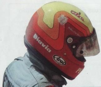 Capacete de Maurício Gugelmin lixado após acidente em Paul Ricard, 1989