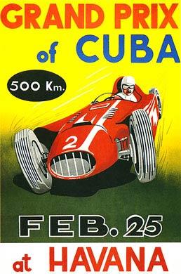 Cartaz com a arte para promoção do Grande Prêmio de Cuba.