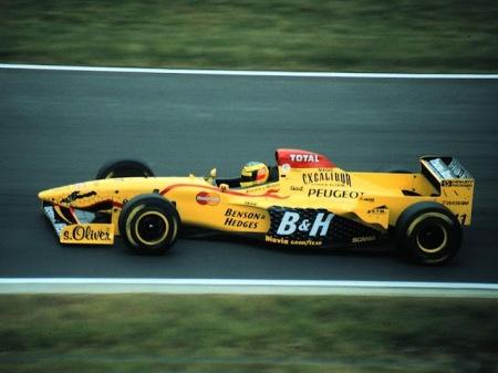 O Jordan 197, nas mãos de Ralf Schumacher.