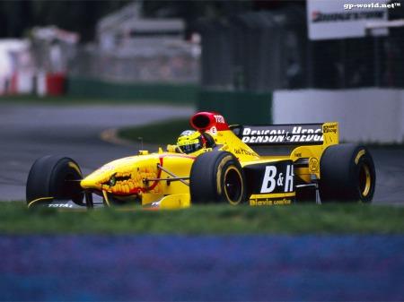 O Jordan 197, novamente com Ralf, em Melbourne.