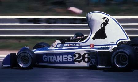 Ligier JS5, modelo horroroso, projetado por Decarouge e pilotado por Jacques Laffite.